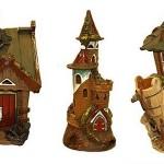 Глиняные домики подсвечники – символичный оригинальный подарок для новобрачных