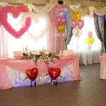 Свадебный декор банкетного зала в столичном ресторане Анфилада на Олимпийском проспекте