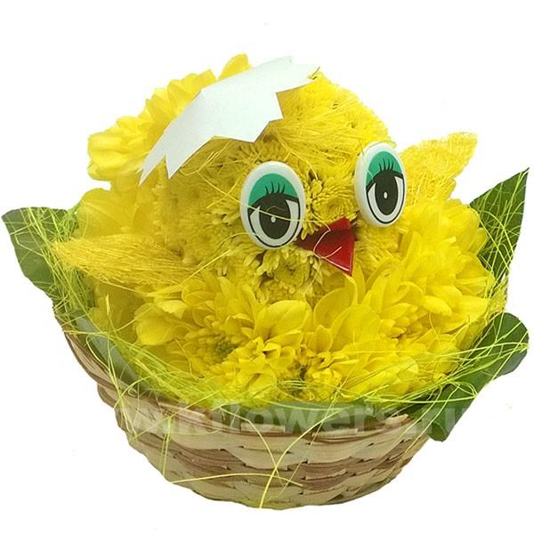 Как сделать цыпленка из живых цветов своими руками 89
