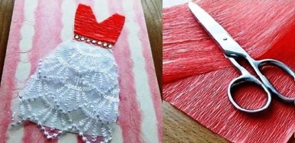 Мастер-класс: открытка ручной работы «Платье принцессы»