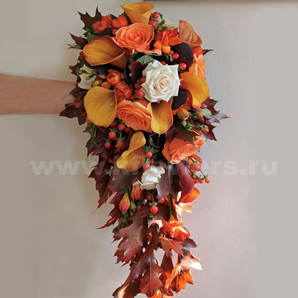 Осенние краски в главном цветочном атрибуте свадьбы