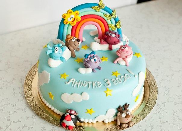 Детский торт с героями мультиков