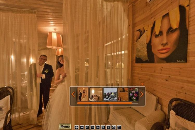 Свадебные фото в виртуальном туре предлагает студия Виртуальная Реальность