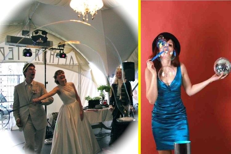 Шоу мыльных пузырей на свадьбу от компании ФенсиБаблс