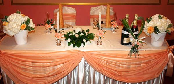 Оформление свадебного зала в ресторане Загородный