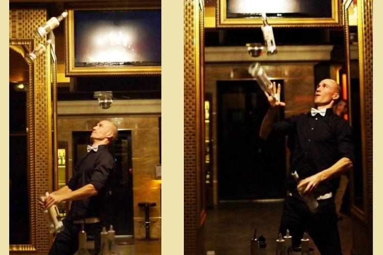 Выступление виртуозного бармена надолго запомнится гостям свадьбы