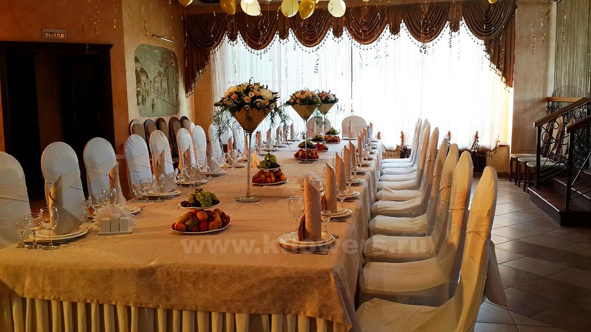 Оформление банкетного зала к дню рождения в ресторане Бульвар, Королев