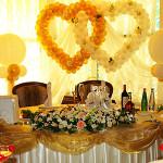 Золотистые переливы или королевский свадебный декор