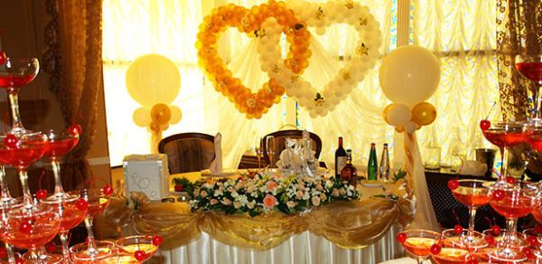 Оформление свадебного зала в ресторане Атолл, Королев