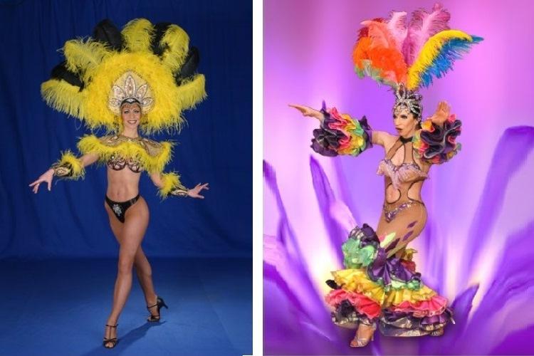 Красочному шоу соответствуют яркие образы и костюмы