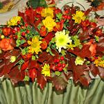 Осенние краски оформления свадебного зала в загородном клубе Персона Грата