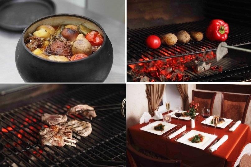 Потрясающее меню составлено блюдами русской, итальянской и кавказской кухни