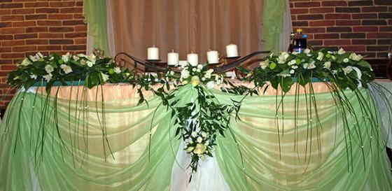 Демократичное свадебное оформление в мятных тонах с элементами изысканности