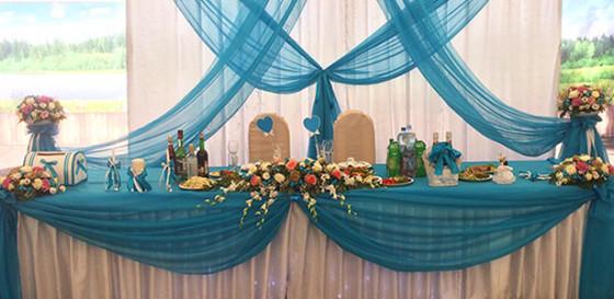 Оформление свадебного банкета на территории санатория Зеленый Городок
