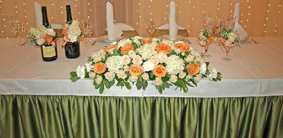 Оформление свадебного зала в очаровательной осенней тональности