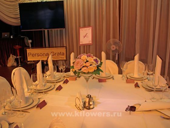 Настольная композиция для гостевых столов - фото ноктюрна в ретро стиле