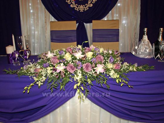 Украшение стола жениха и невесты включает несколько интересных деталей и оригинальных объектов