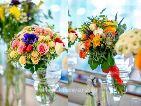 Свадебная мода 2016 не ограничивает выбор формы и цвета букета