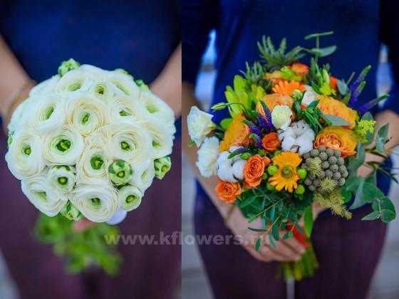 Букет невесты может быть аккуратно составленным или слегка небрежным