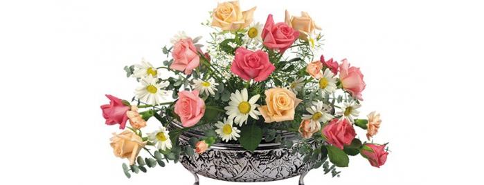 Цветочная композиция цветов